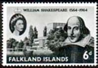 Falkland Islands 1964 William Shakespeare Fine Mint