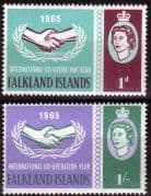 Falkland Islands 1965 International Co-operation Year Set Fine Mint