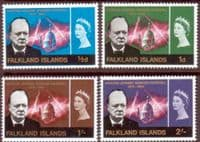 Falkland Islands 1966 Churchill Set Fine Mint