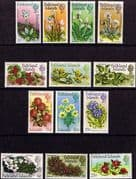 Falkland Islands 1972 Decimal Flower Set Fine Mint