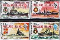 Falkland Islands 1974 Battle of the River Plate Set Fine Mint
