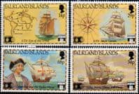 Falkland Islands 1991 Discovery of America by Columbus Set Fine Mint