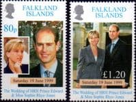 Falkland Islands 1999 Royal Wedding Set Fine Mint