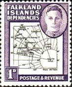 Falkland Islands Dependencies 1946 Map SG G2 Fine Mint