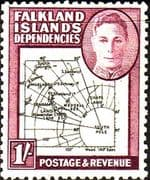 Falkland Islands Dependencies 1946 Map SG G8 Fine Mint
