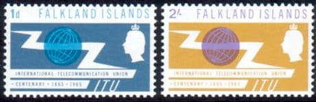 Falkland Islands International Telecomunication Union Set Fine Mint