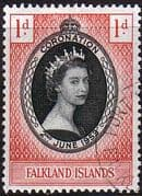 Falkland Islands Queen Elizabeth II 1953 Coronation Fine Used