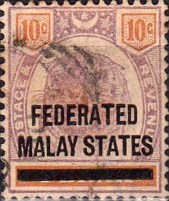 Federated Malay States 1900 SG 10 Overprint Fine Used
