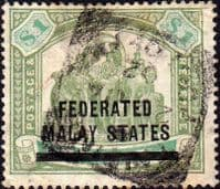 Federated Malay States 1900 SG 11 Overprint Good Used
