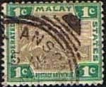 Federated Malay States 1900 SG 15a Tiger Fine Used
