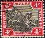 Federated Malay States 1900 SG 17a Tiger Fine Used