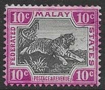 Federated Malay States 1900 SG 20a Tiger Fine Mint