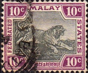 Federated Malay States 1900 SG 20a Tiger Fine Used