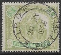 Federated Malay States 1900 SG 23 Elephants Fine Used
