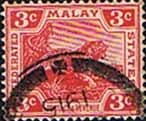 Stamps Federated Malay States 1904 SG 34 Tiger Fine Used Scott 42