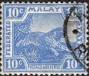 Federated Malay States 1904 SG 44a Tiger Fine Used