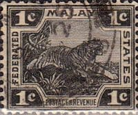 Federated Malay States 1922 SG 53 Tiger Fine Used