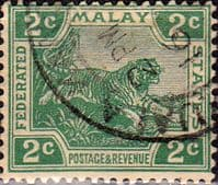 Federated Malay States 1922 SG 55 Tiger Fine Used