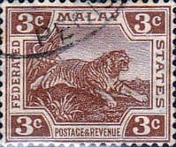 Federated Malay States 1922 SG 58 Tiger Fine Used