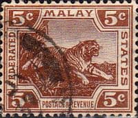 Federated Malay States 1922 SG 62 Tiger Fine Used