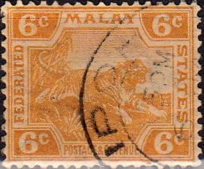 Federated Malay States 1922 SG 63 Tiger Fine Used