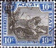 Federated Malay States 1922 SG 66 Tiger Fine Used