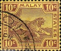 Federated Malay States 1922 SG 67 Tiger Fine Used