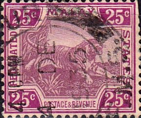 Federated Malay States 1922 SG 70 Tiger Fine Used