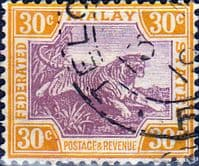 Federated Malay States 1922 SG 71 Tiger Fine Used