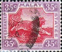Federated Malay States 1922 SG 73 Tiger Fine Used