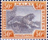 Federated Malay States 1922 SG 74 Tiger Fine Mint
