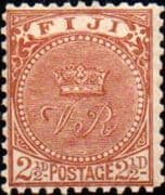 Fiji 1893 Queen Victoria SG 89 Good Used