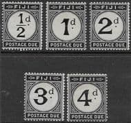 Fiji 1918 Postage Due  Set  Fine Mint