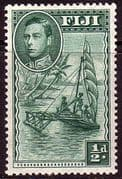Fiji 1938 SG 249a Native Sailing Canoe Fine Mint
