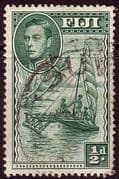 Fiji 1938 SG 249a Native Sailing Canoe Fine Used