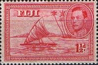 Fiji 1938 SG 251 Kamakua Canoe No Native Die I Fine Mint