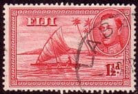 Fiji 1938 SG 252 Kamakua Canoe with Native Fine Used
