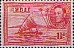 Fiji 1938 SG 252c Kamakua Canoe with Native Fine Mint