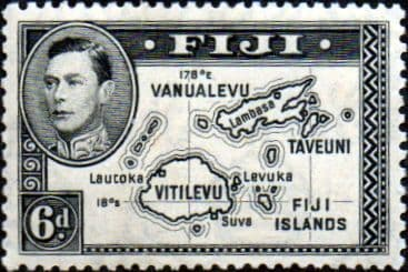 Fiji 1938 SG 260 Map of Islands Fine Mint