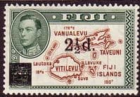Fiji 1941 SG 267 Map of Islands Overprint Fine Mint