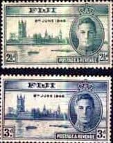 Fiji 1946 King George VI Victory Peace Stamps