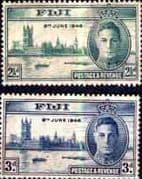 Fiji 1946 King George VI Victory Set Fine Mint