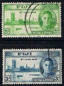 Fiji 1946 King George VI Victory Set Fine Used