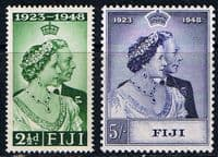 Fiji 1948 King George VI Royal Silver Wedding Set Fine Mint
