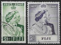 Fiji 1948 King George VI Royal Silver Wedding Set Fine Used