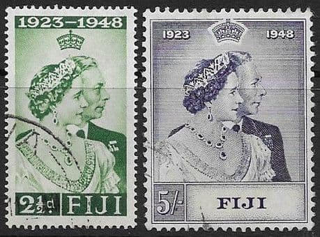 Fiji Stamps King George VI Royal Silver Wedding