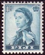 Fiji 1954 SG 281 Queens Portrait Fine Mint