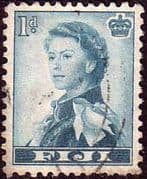 Fiji 1954 SG 281 Queens Portrait Fine Used