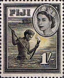 Fiji 1954 SG 289 Spear Fishing Fine Mint