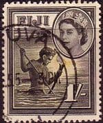 Fiji 1954 SG 289 Spear Fishing Fine Used